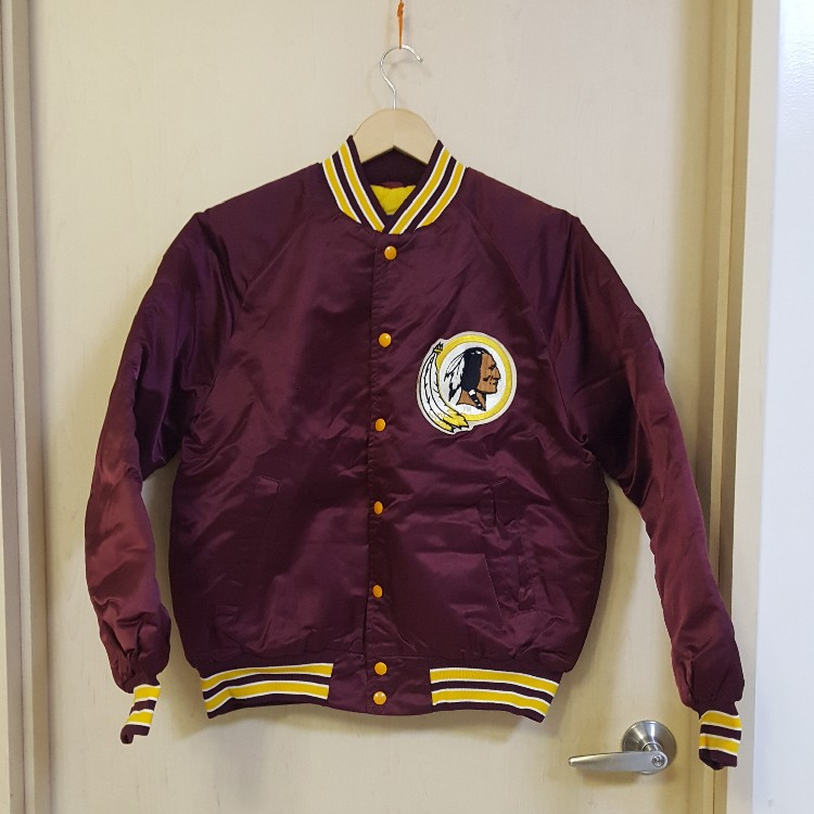 more photos 31e5c cc7ab VTG Official NFL STAHL-URBAN Washington Redskins Satin Varsity  Jacket-OG-Size M