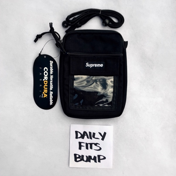Supreme Utility Pouch Bag Black Shoulder Bag