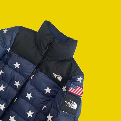 North Face Usa Puffer Jacket - Goose Down Nuptse