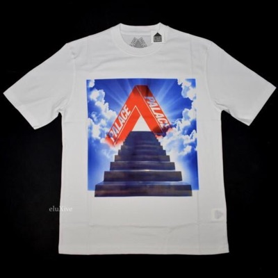 Palace 'Tri-Ternity' Stairway Logo Tshirt White Ds