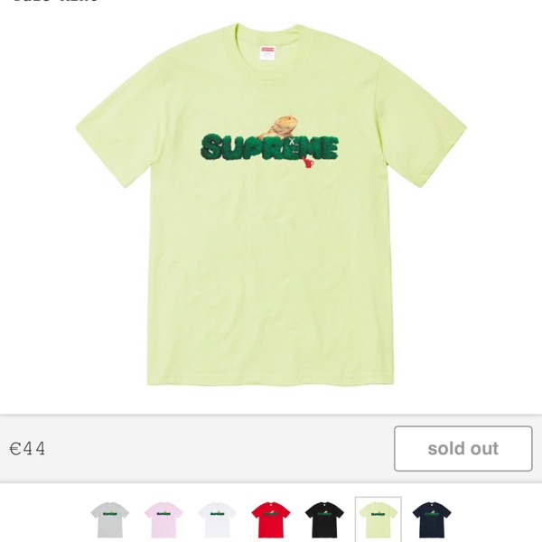Supreme Lizard Tee Mint