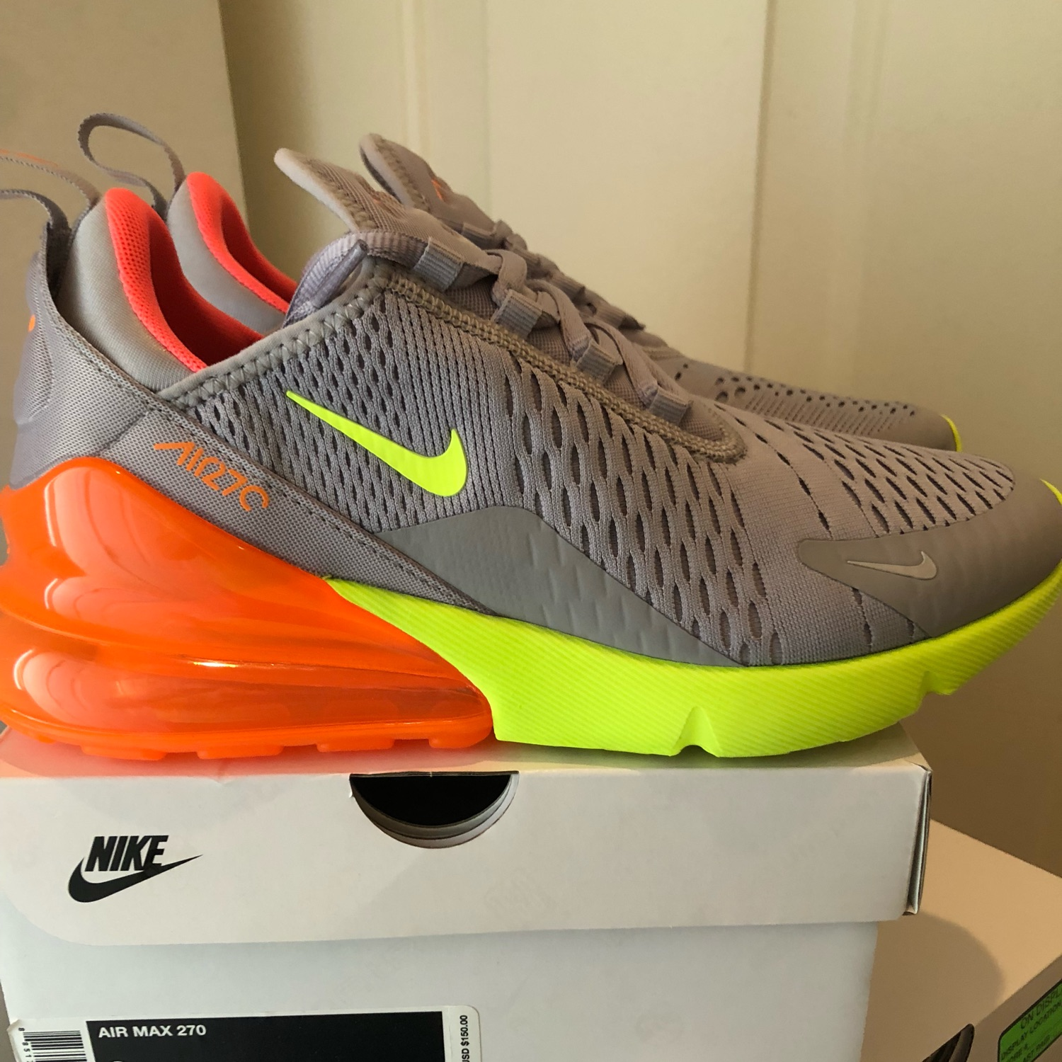 super popular ee418 95939 Nike Air Max 270: Atmosphere Grey/Volt,9.5, Ds!