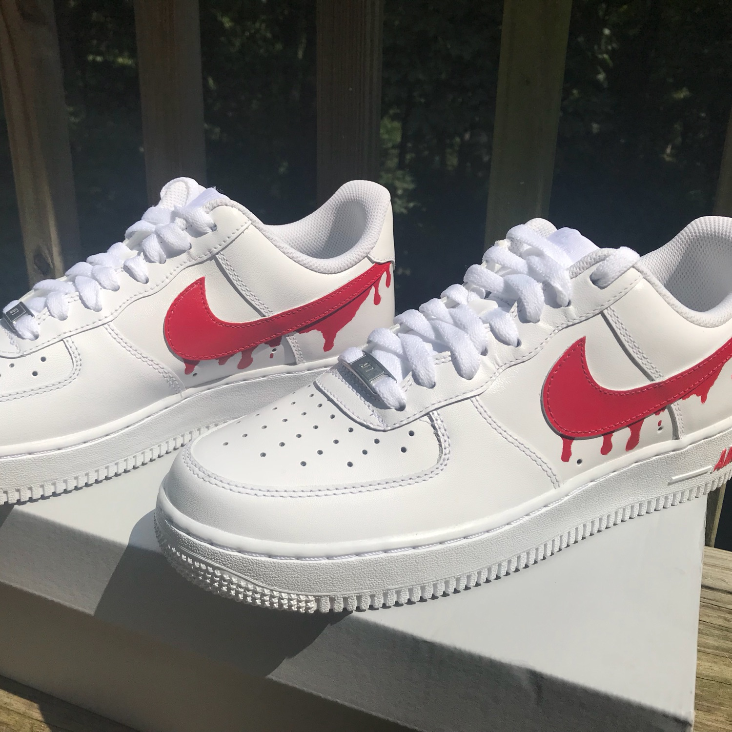 9f4e60f09dcd1 Nike Air Force 1 Custom Paint Drip *Read*