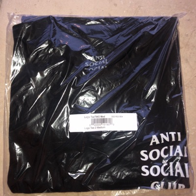 Anti Social Social Club Black Logo 2 Tee