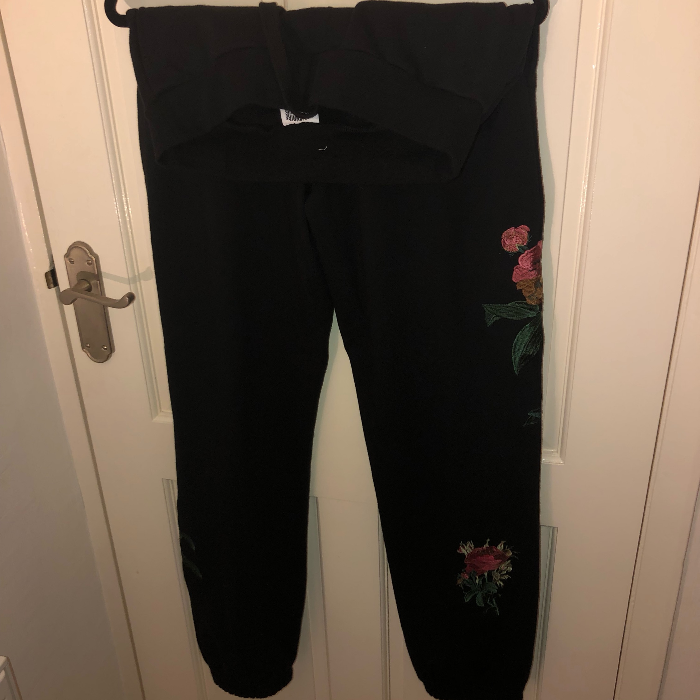 Bbc Embroidered Floral Jogging Bottoms