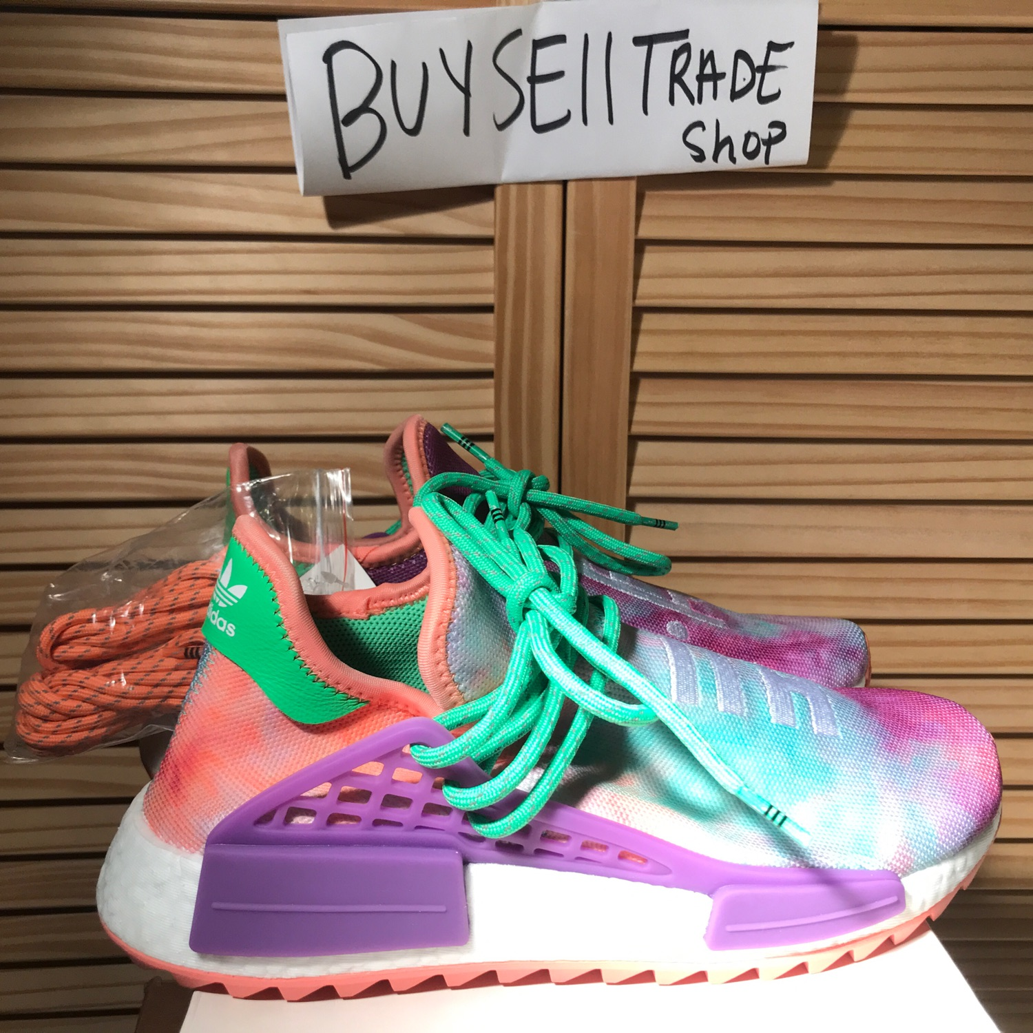 new products f804c 0079a Adidas Pw Hu Holi Nmd Mc Human Race Chalk Coral