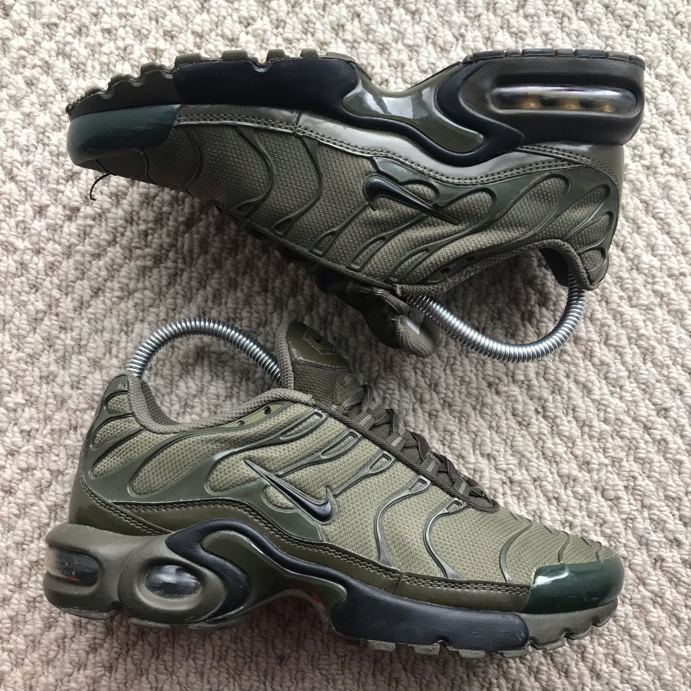 size 40 9cc2e 1c307 Nike Air Max Tuned Tn Green Khaki Black Trainers
