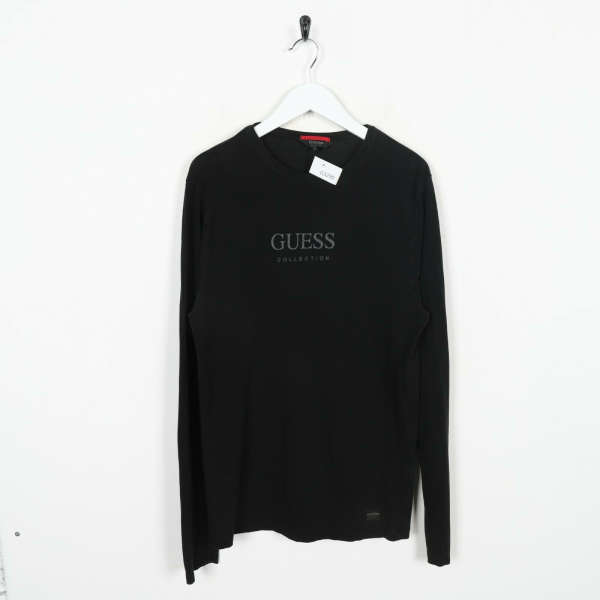 Vintage GUESS COLLECTION Long Sleeve T Shirt Tee Black Large L