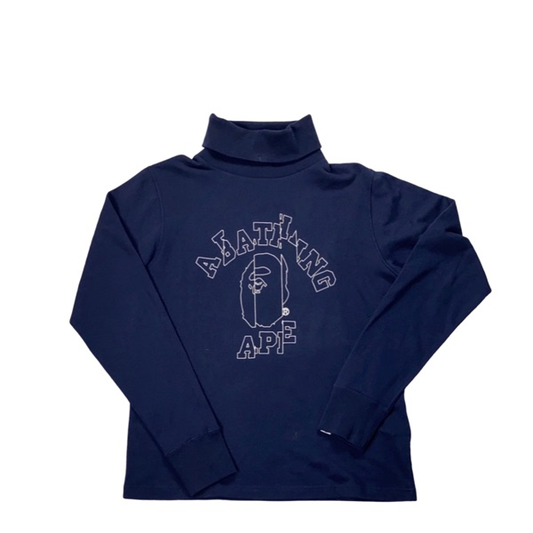Bape Navy Roll Neck
