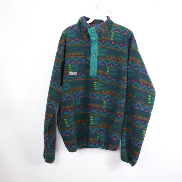Vintage Columbia Print Fleece Jacket