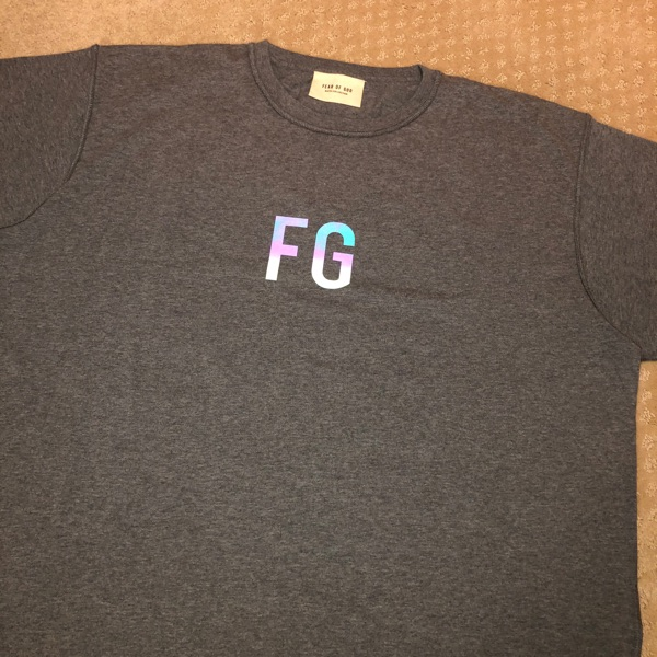 Fear Of God Fg Logo Iridescent T-Shirt