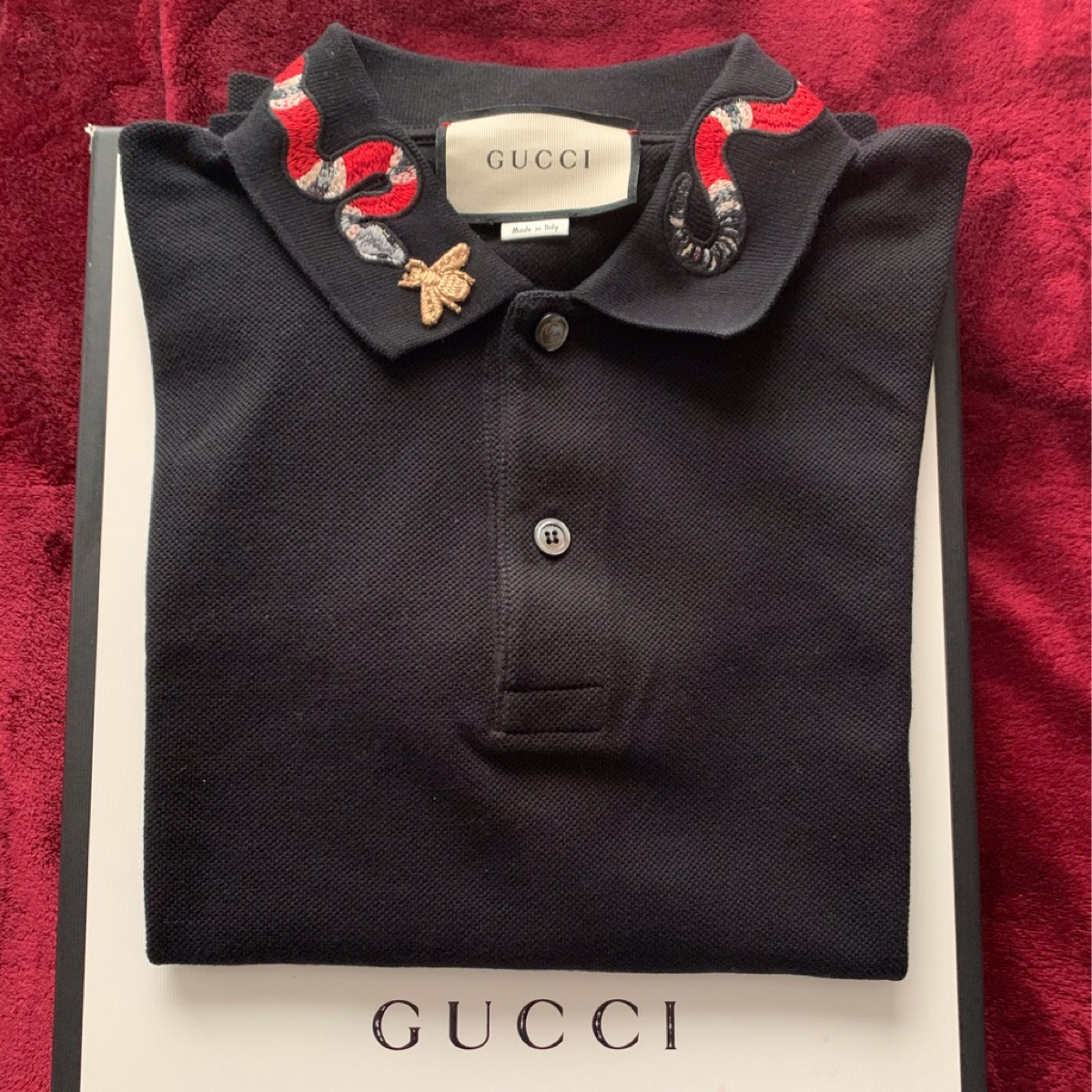 Gucci Polo Shirt With Kingsnake Embroidery