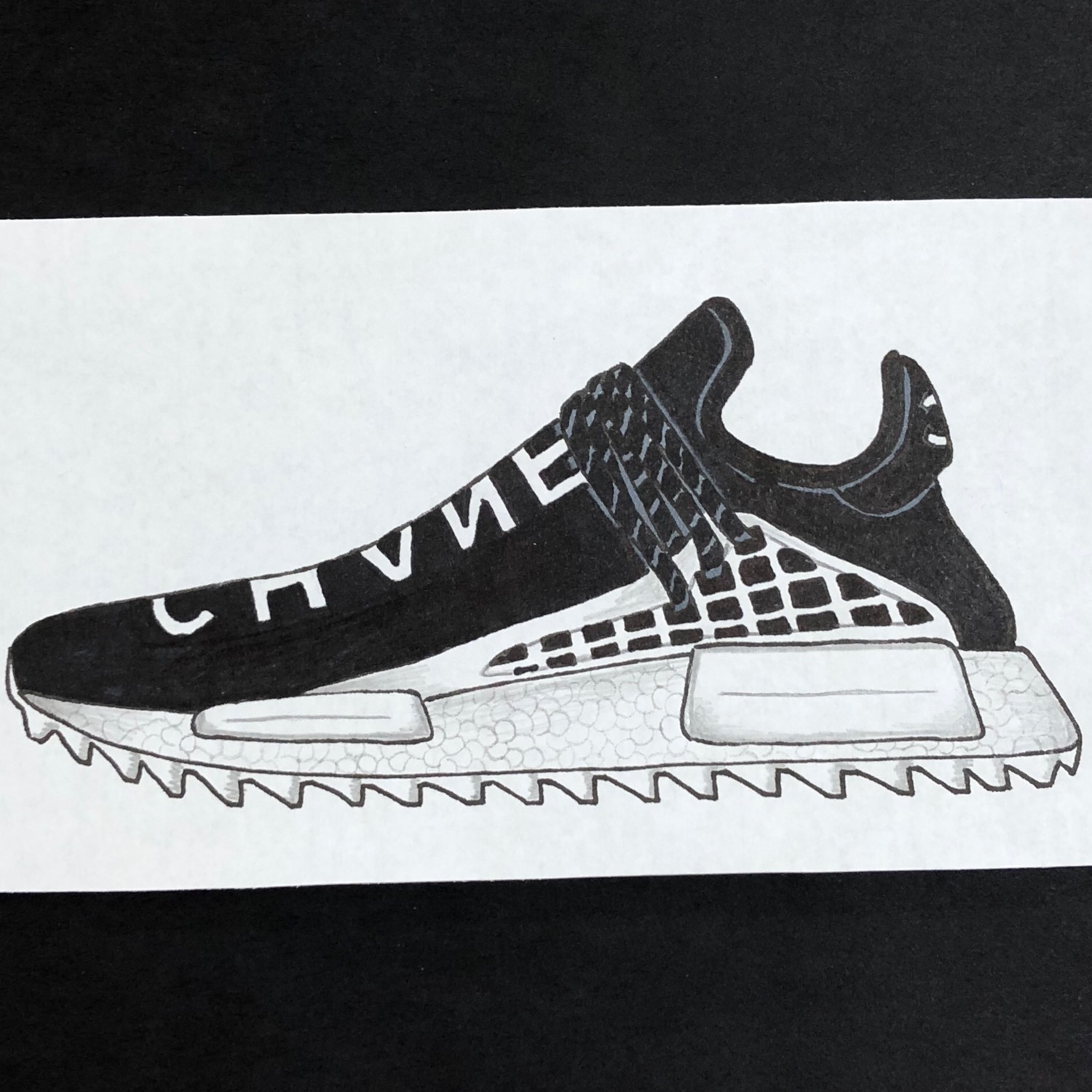 wholesale dealer 649fe 802e7 Adidas X Pharrell Human Race Nmd Chanel Art