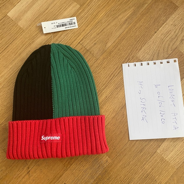 Supreme Overdyed Beanie Mix Red