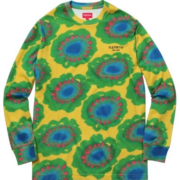 Painted Flowers L/S Tee Size M Supreme