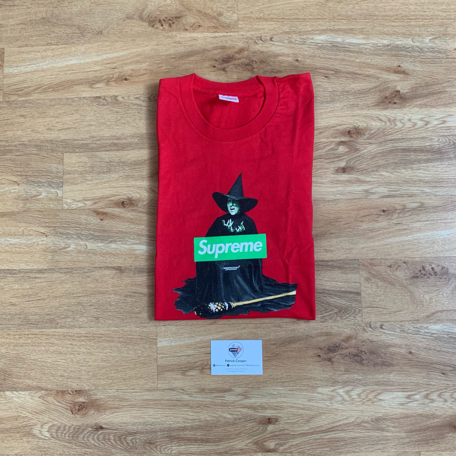 c55435aee8f6 Supreme Box Logo Tee Undercover Witch Red