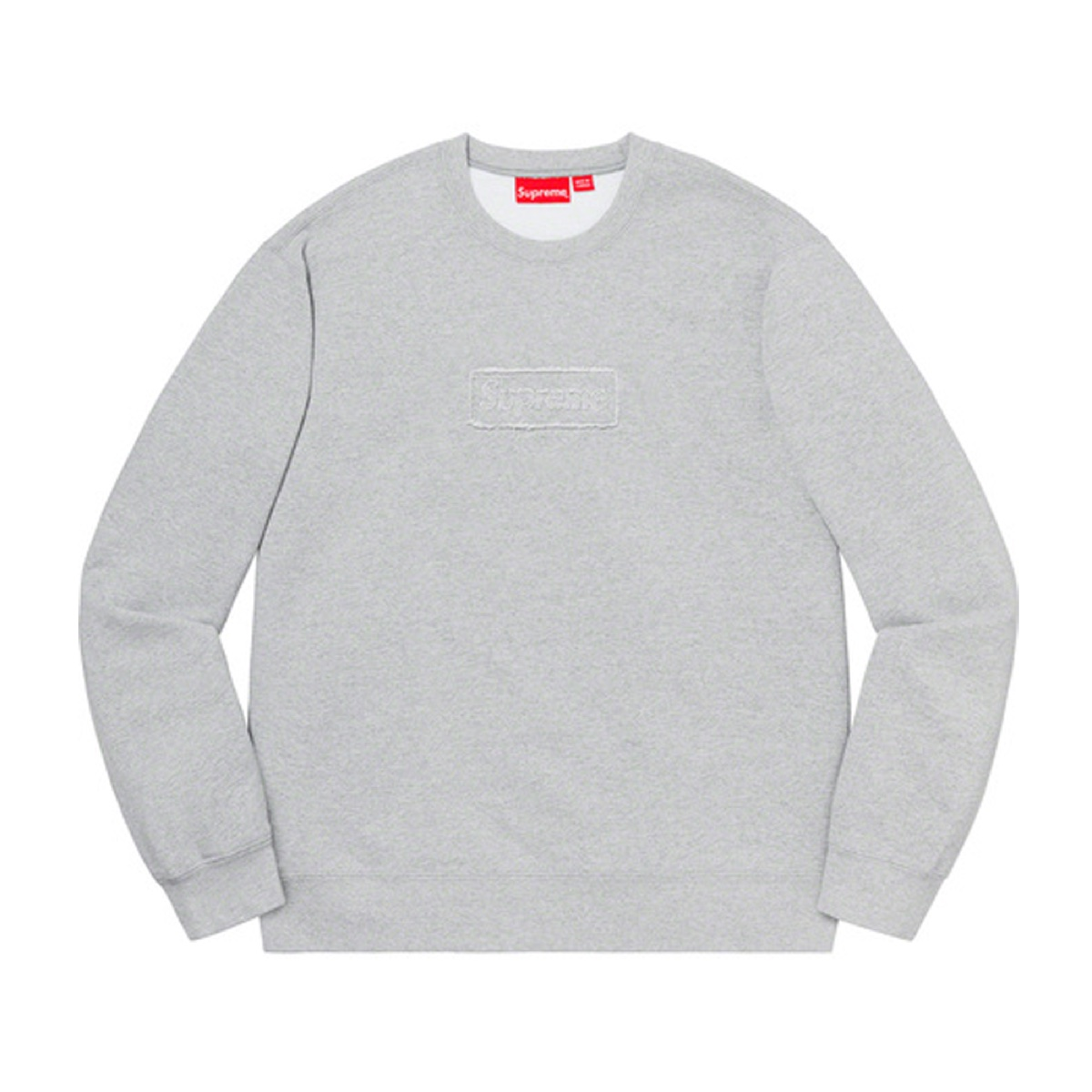 Supreme Cutout Logo Crewneck Grey