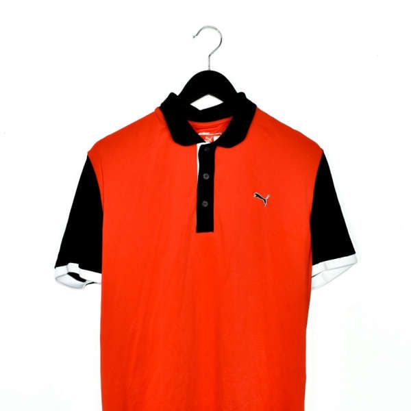 Vintage puma polo shirt top blouse tee in red and black