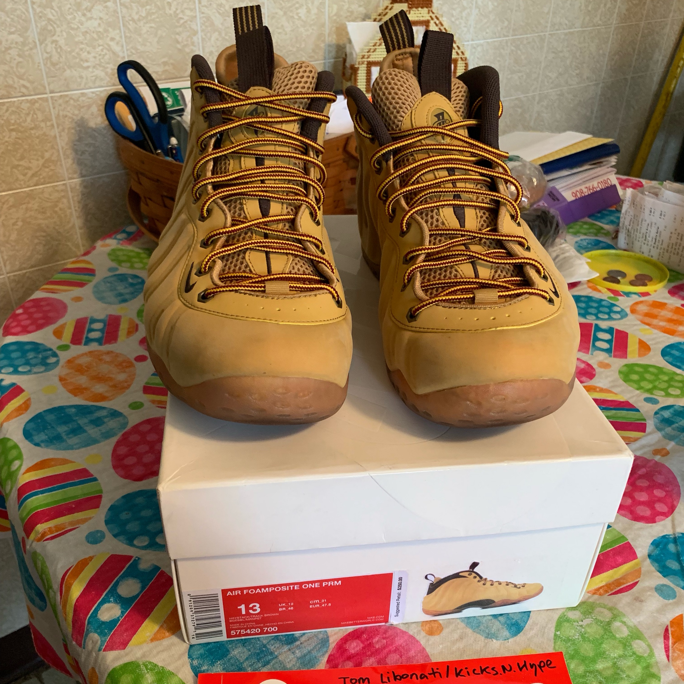 "check out b7174 b6d48 Nike Air Foamposite One ""Wheat"" Size 13"