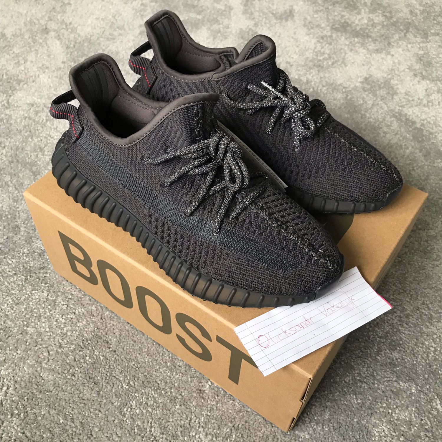100% authentic 49b5f fd1ed Adidas Yeezy Boost 350 V2 Black Non Reflective