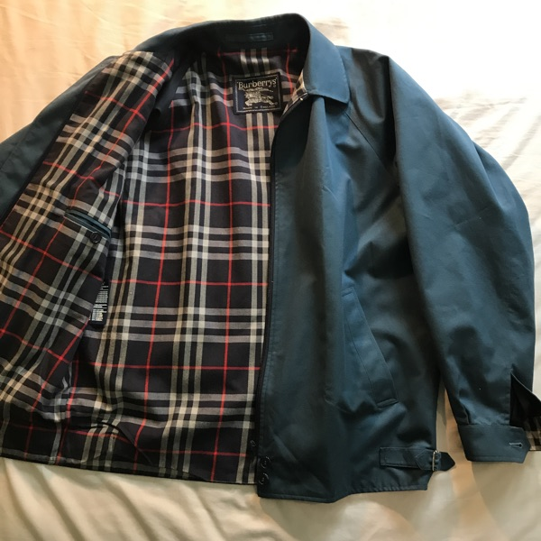 Burberry Harrington Jacket. Blue Nova Check