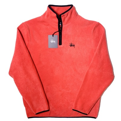 Stussy Fleece Quarter-Zip - Melon
