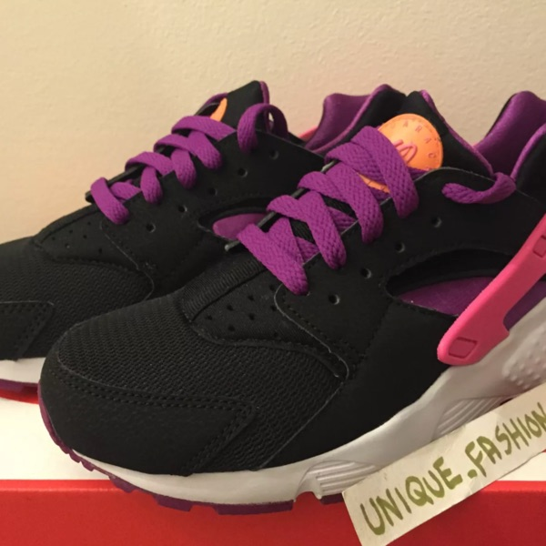 Nike Air Huarache Gs Black Berry 4.5Y