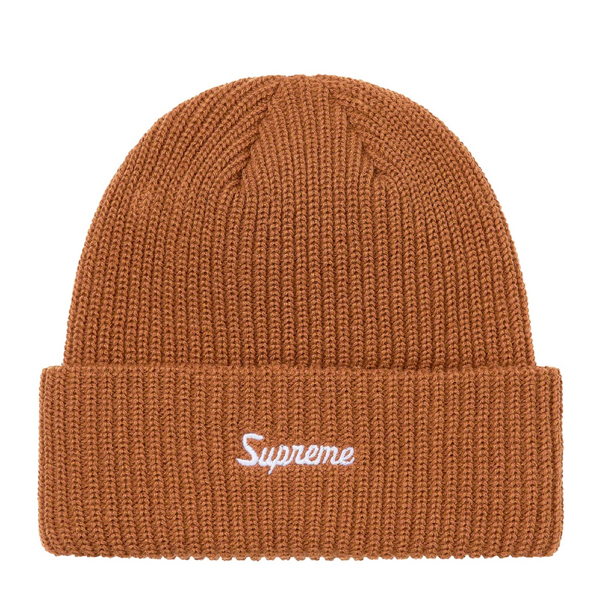Supreme Loose Gauge Beanie Tan