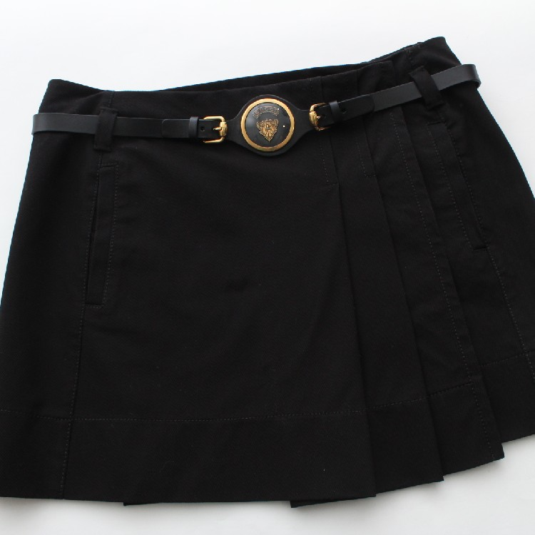 11ba4d686 Gucci Black Skirt Knight Logo GG Monogram Women's Size 42 Made In Italy  100% Authentic