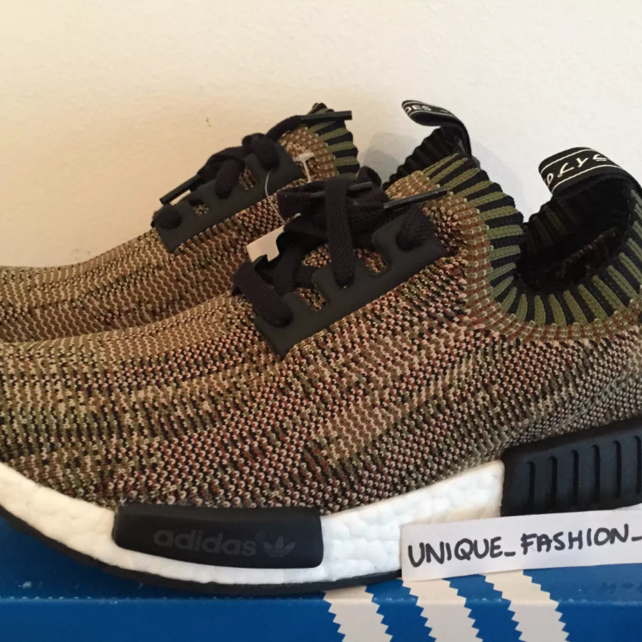 f8f96802296 Adidas Nmd Runner R1 Glitch Camo Pack Olive