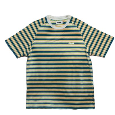 Striped Palace T Shirt - Neon Short Sleeve