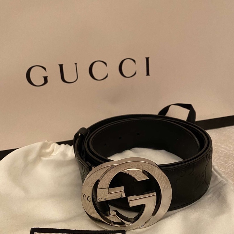 Gucci Signiture Leather Belt