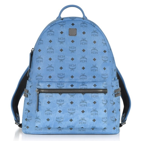Mcm Baby Blue Backpack