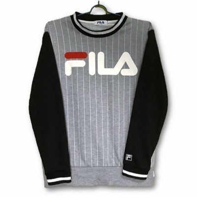 Vintage Fila Striped Big Logo Spellout