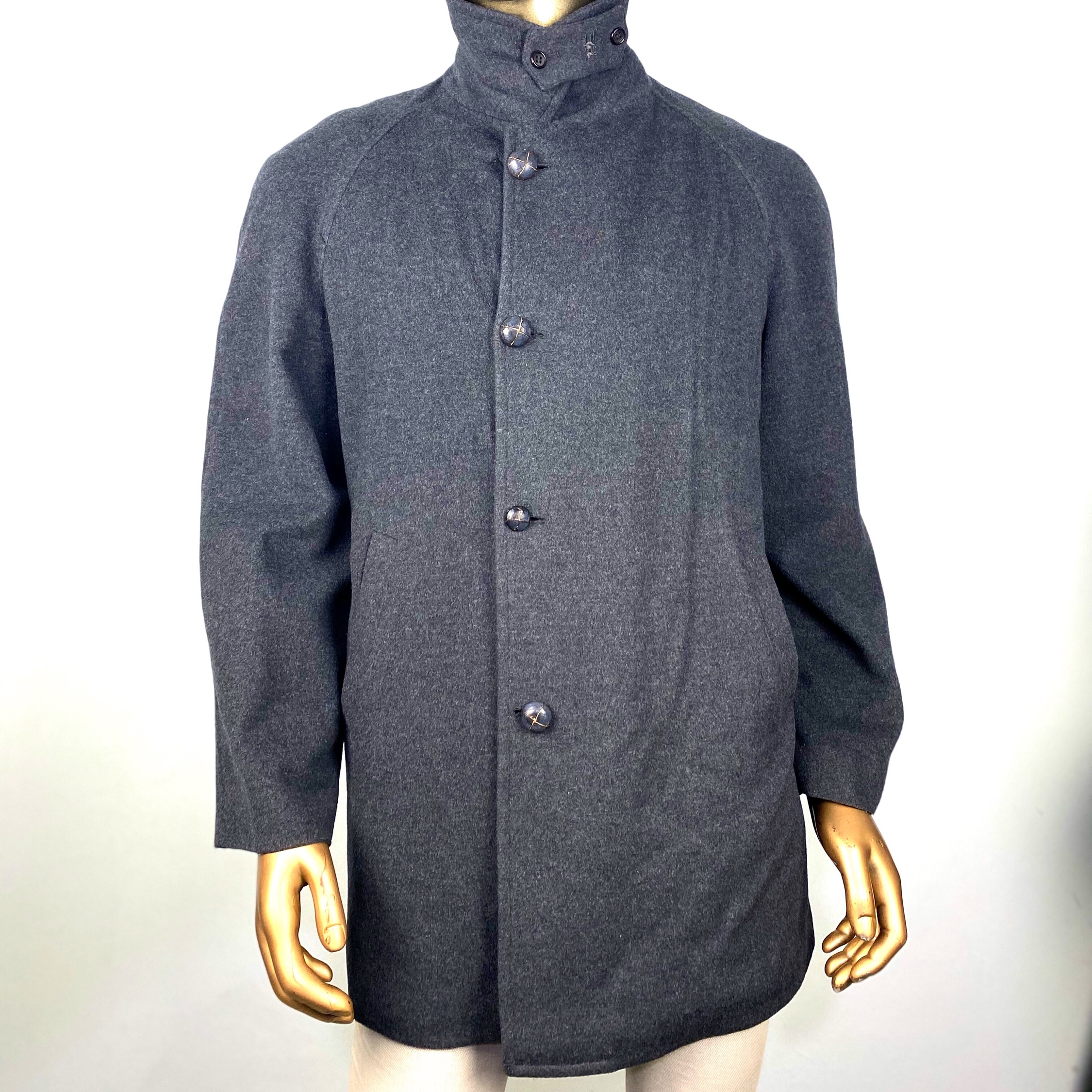 Burberry Wool  Coat  Checkered L
