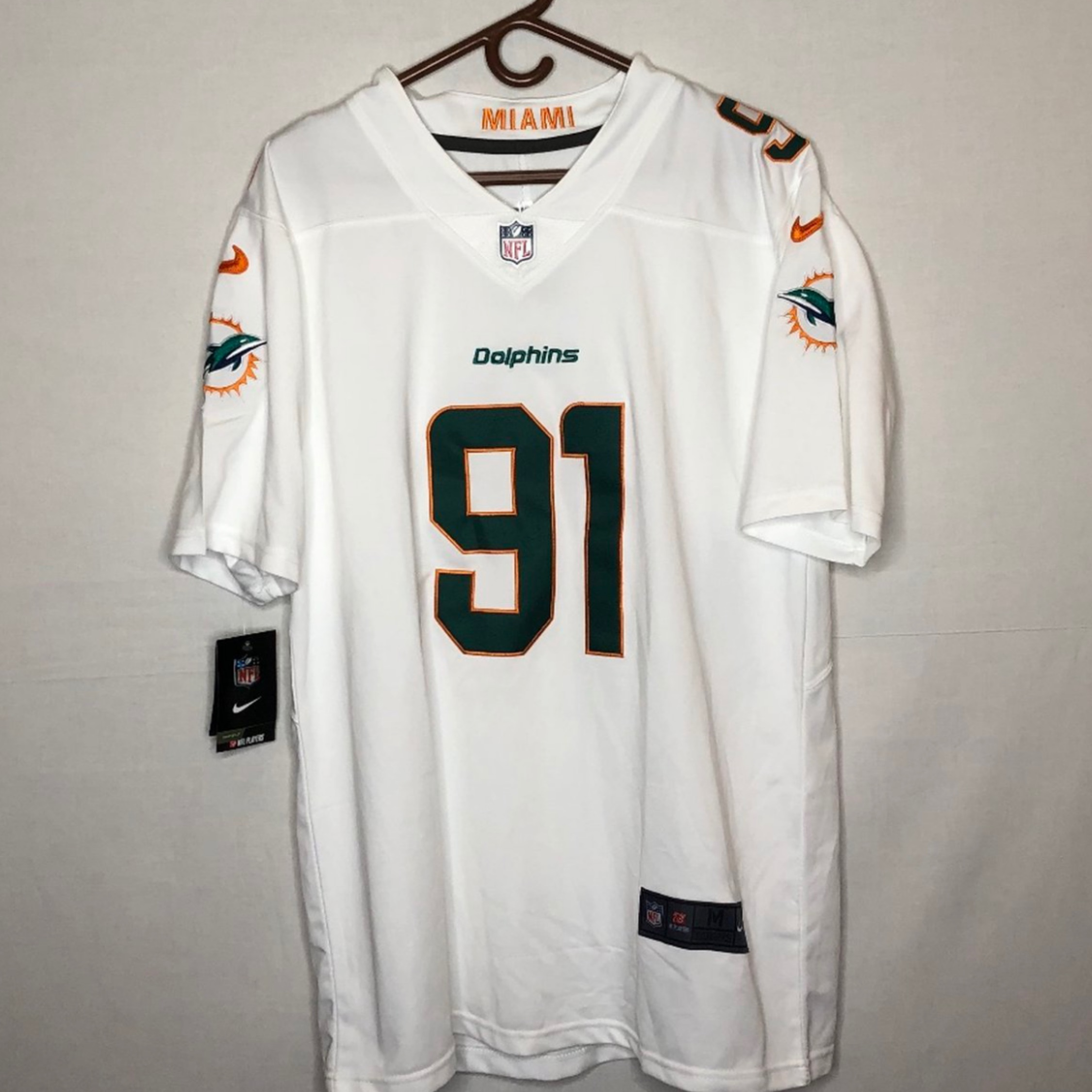 the latest 70cfa 3a3df Nike Miami Dolphins Wake Jersey