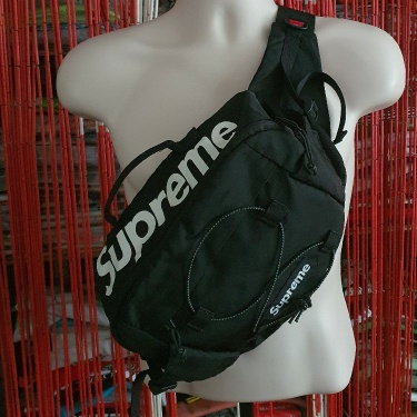 SS17 Supreme black waist bag Cordura Fabric