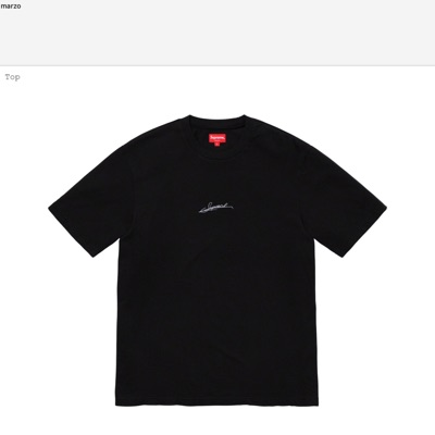 Supreme Signature Top Black