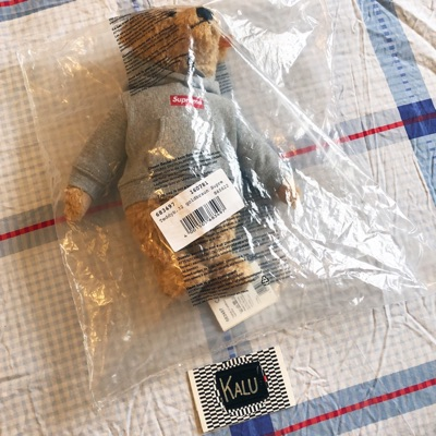 Supreme X Steiff Elmar Bear Box Logo Fw18 New