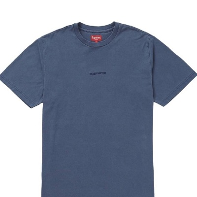 Supreme Overdyed Tee Navy Blue