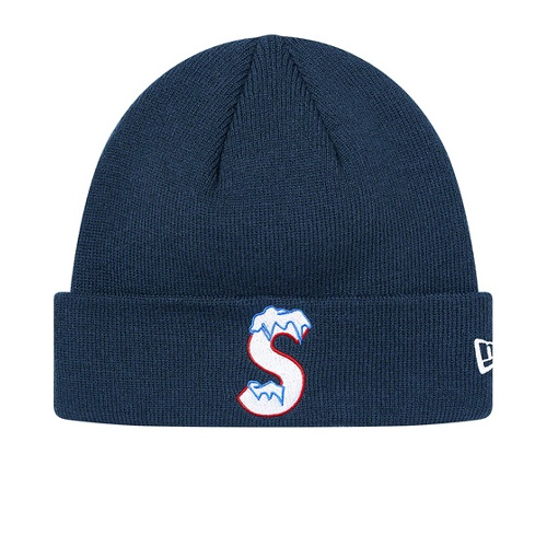 Supreme New Era S Logo Beanie Navy