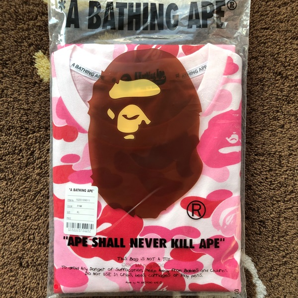 Bape Abc Camo Side Shark Tee Pink