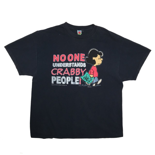 Vintage Peanuts 'No One Understands Crabby People'