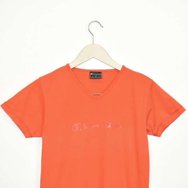 Vintage Champion t-shirt top blouse tee in bright orange