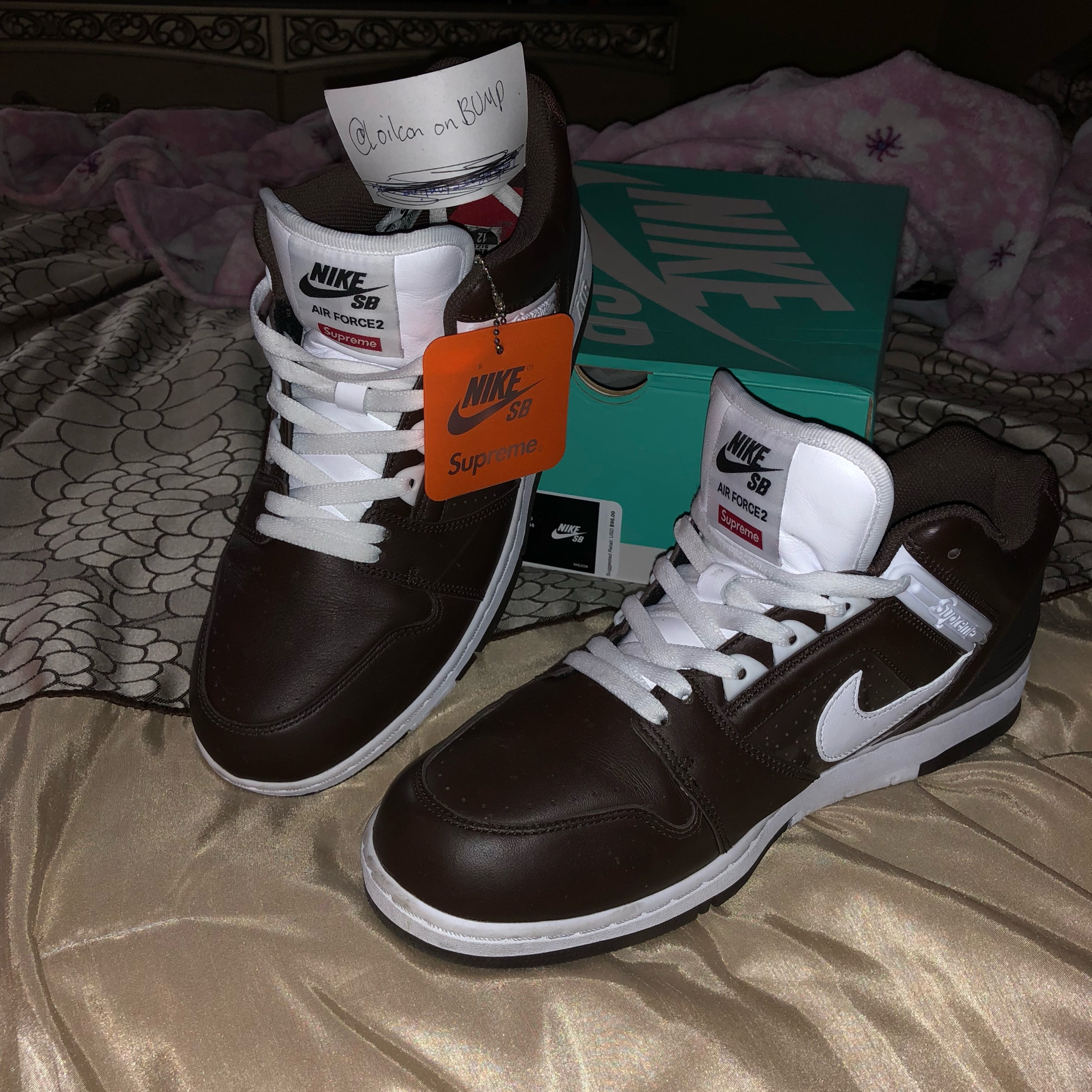 huge discount 68925 03e89 Supreme X Nike Air Force 2 Low Brown
