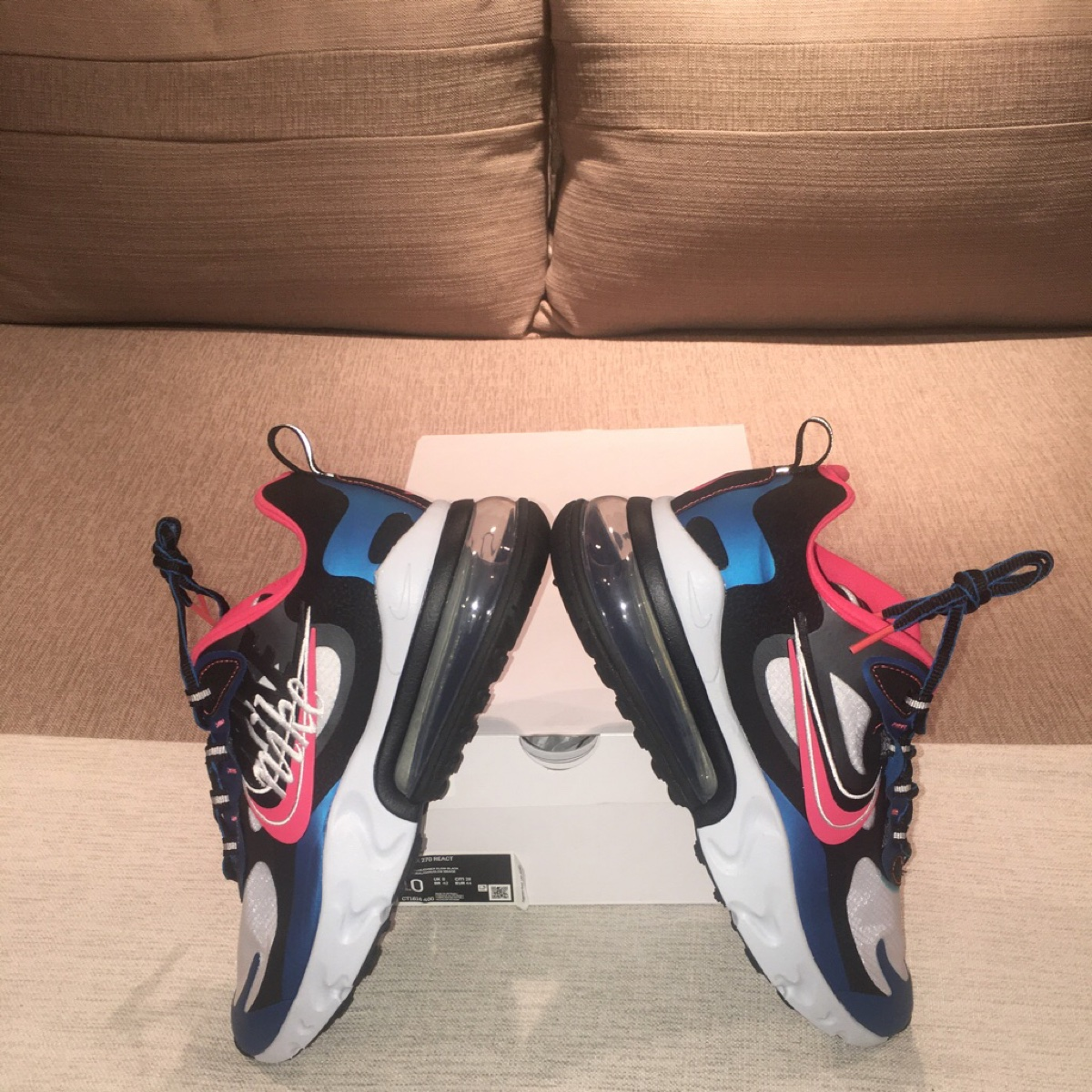 Nike Air Max 270 React-(Imperial Blue/Ember Glow