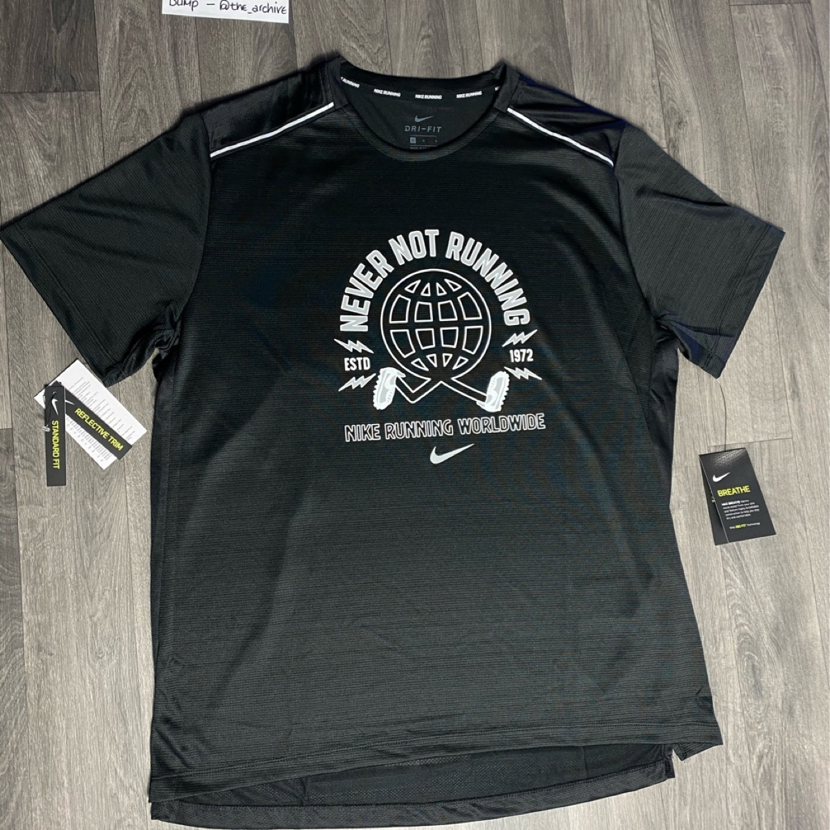 Nike Dri Fit wild run black tee