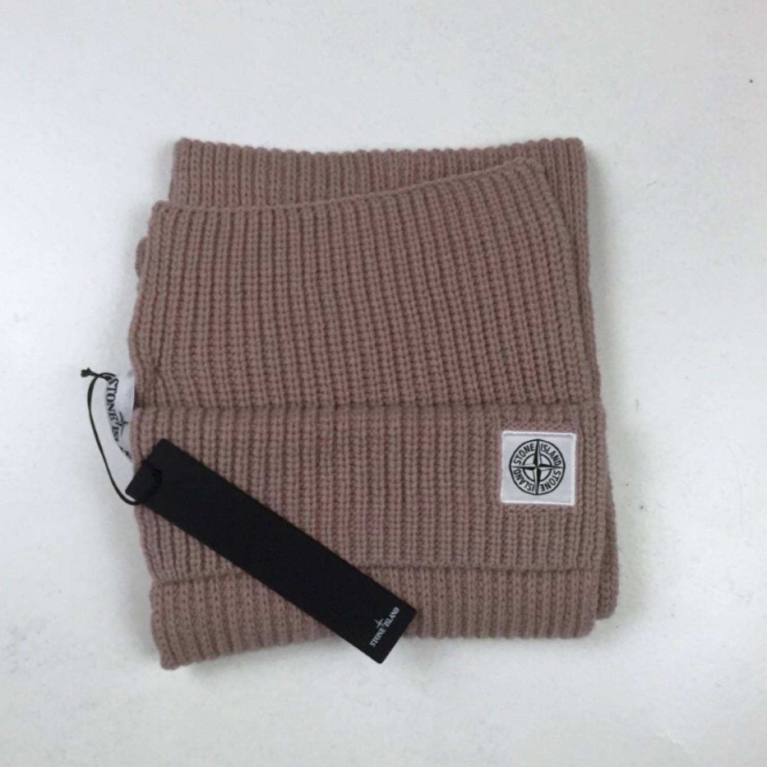Stone Island Thick Ribbed Pink Scarf