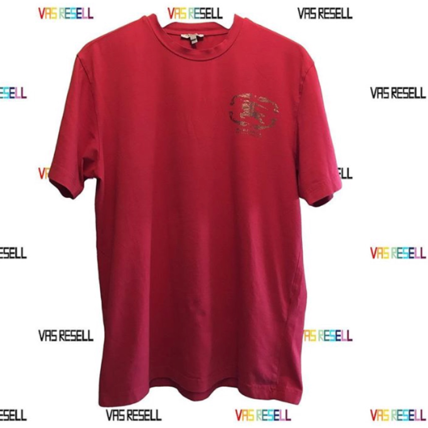 red burberry t shirt