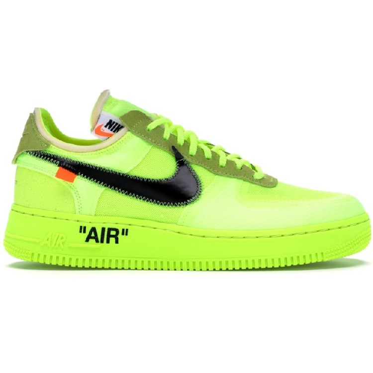 2f4b1daa9c44 THE 10  Nike Air Force 1 Low Off-White Volt x Virgil Abloh AO4606 ...